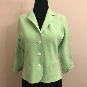 *J CREW* Green Soft Knit Blazer Cardigan - Sz M